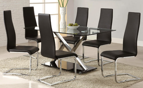 1077 - Metal & Glass Dinette