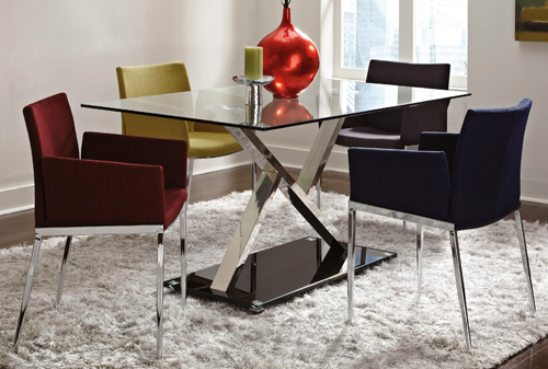 1083 - Glass Chrome Dinette