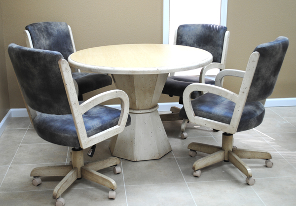 Round Table 260 Caster Chairs