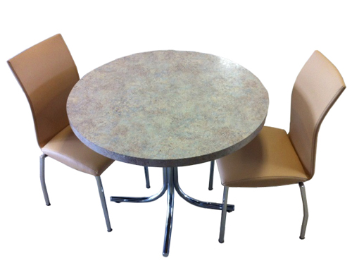 4067 Almond Chairs Formica Table