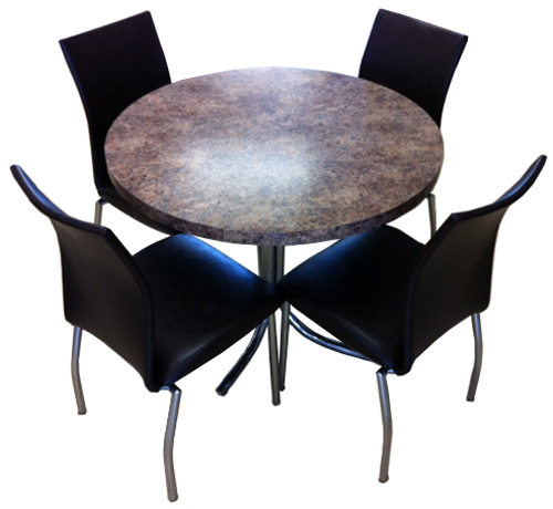 4067 Brown Chairs Formica Table