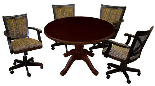 Round Table with Mango Chairs