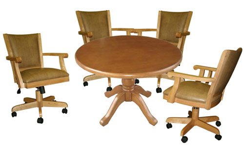 Round Table with Mango Full Back Chairs