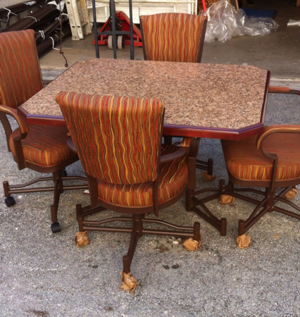 845 Caster Chair Set