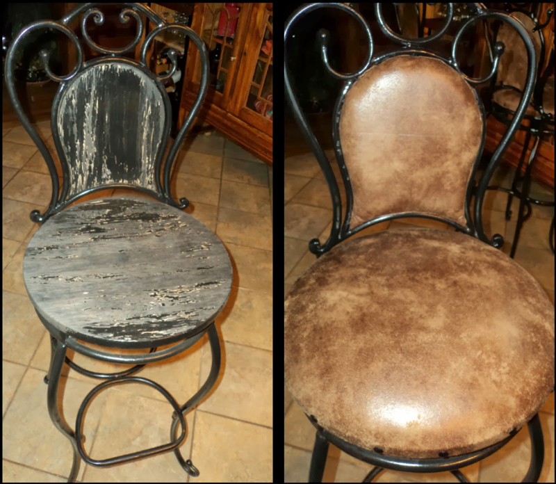 Bar Stool Reupholstery