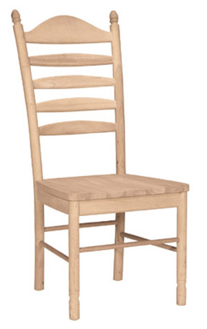 Bedford Ladderback Chair Wood Seat