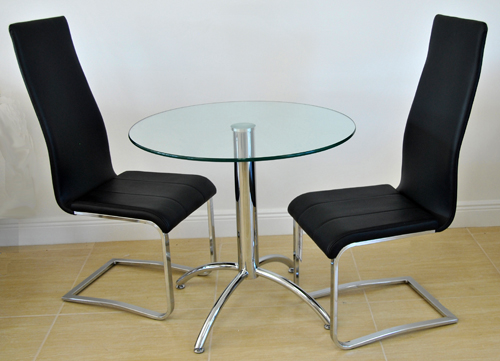 Chrome Base with Marie Chairs