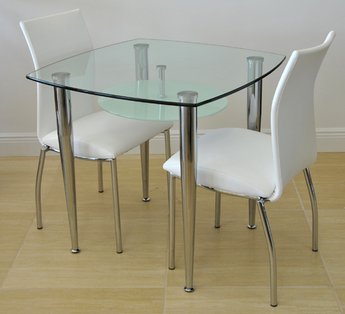 6088 Chrome Table with 4067 Chairs
