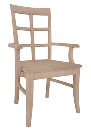 Bordeaux Chair Wood Seat with Arms