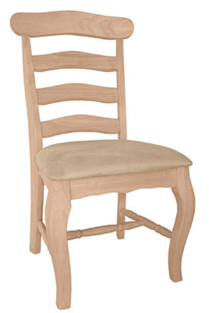 Country French Chair Padded Seat