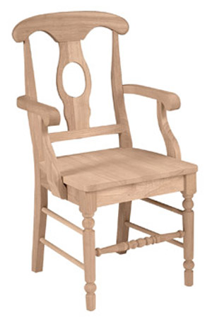Empire Chair Wood Seat with Arms