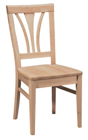 Fanback Chair Wood Seat