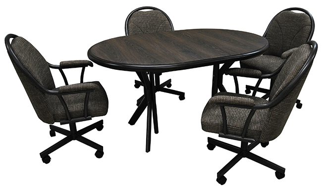 M-80 Caster Chairs 42x42x60 Table