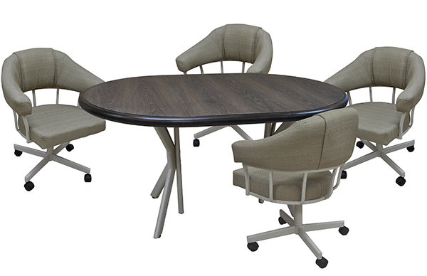 M-90 Caster Chairs 42x42x60 Table