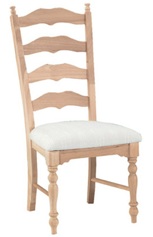 Maine Ladderback Chair Padded Seat