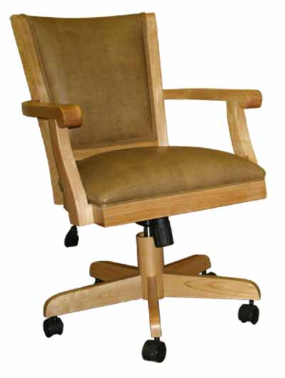 Mango Full Back Caster Chair with Arms