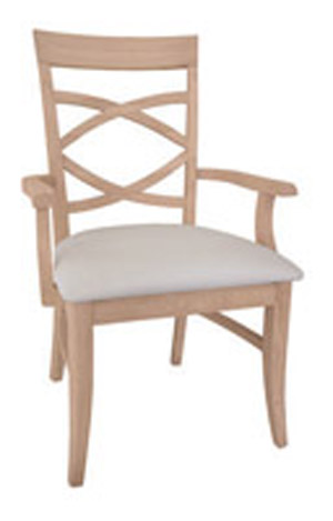 Milano Chair Padded Seat with Arms