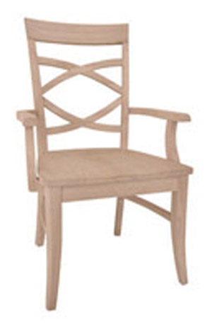 Milano Chair Wood Seat with Arms