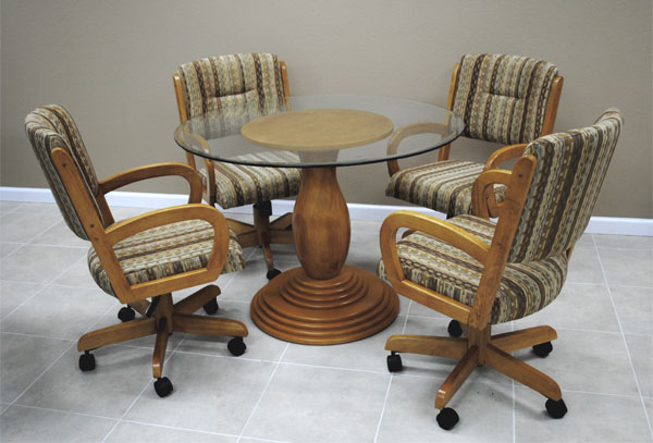 260 Caster Chair Glass Top Dinette