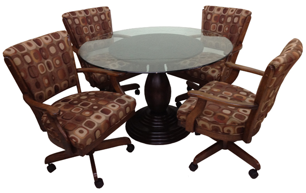 Dinette Table And Chairs With Casters