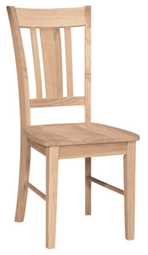 San Remo Slatback Chair Wood Seat