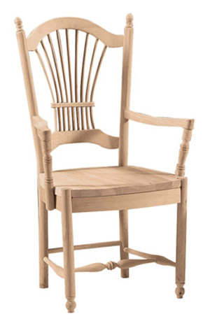 Sheaf Back Chair Wood Seat with Arms
