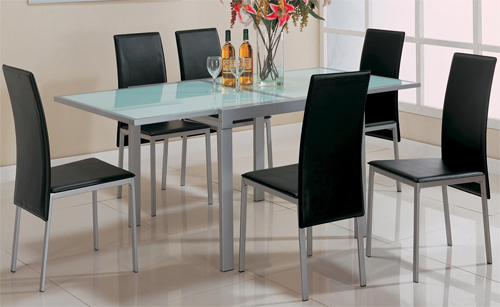 1089 - Glass Chrome Dinette