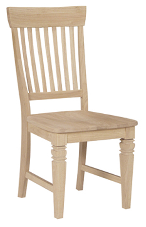 Tall Java Chair Wood Seat