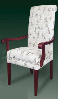 T-134 Wood Arm Parsons Chair