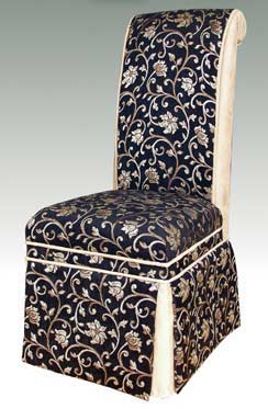 T-163 Designer Skirted Parsons Chair