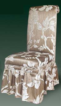 T-185 Parsons Chair with Ruffled Skirt