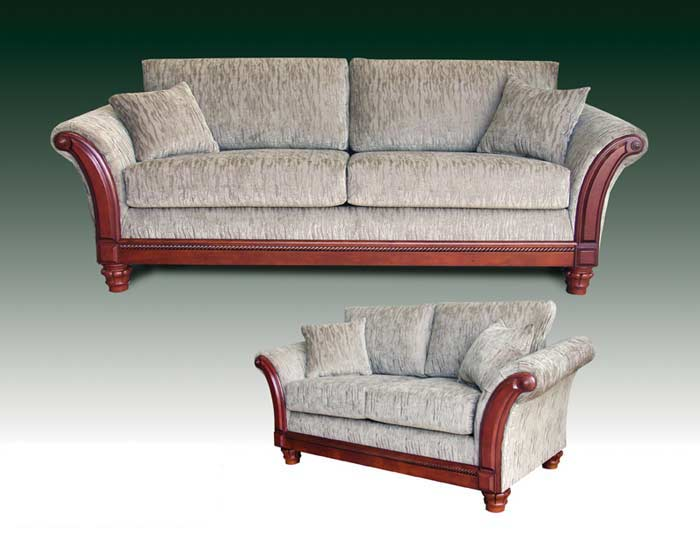T-3017 Contemporary Sofa and Love Set