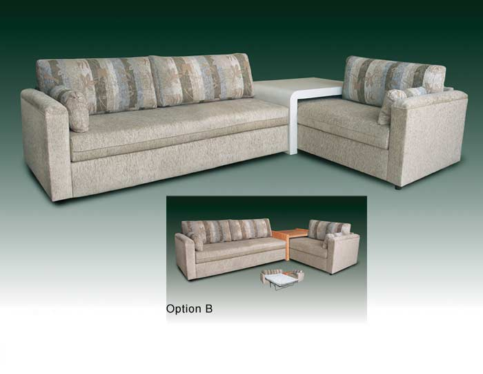 T-4049 Bahama Twin Sofa Bed and Table
