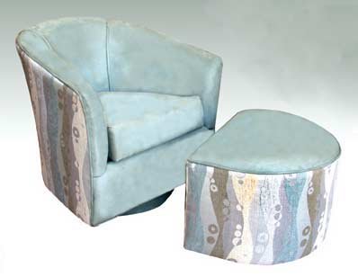 T-117 Modern Chair and T-16 Ottoman