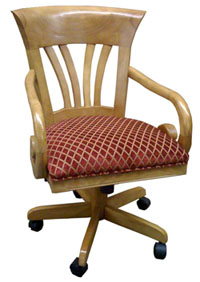 Wave Caster Chair with Arms